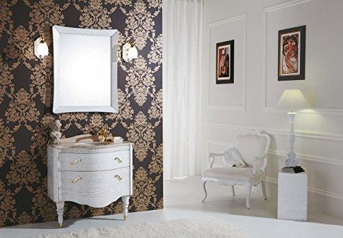 dafnedesign. COM - Meuble de Salle de Bain Meuble avec lavabo avec tiroirs et Miroir rectangulaire