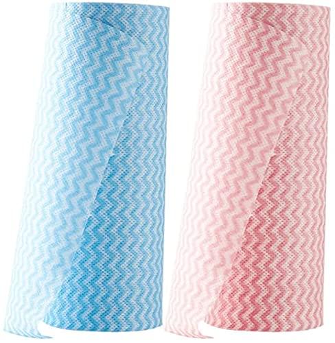 Rollo de tela Rollo de papel Papel Pad Cojín de cocina Toallas de papel de aceite y agua Toallitas absorbentes de agua Toallitas desechables para lavar platos Toallas de cocina de tela ( Size : 4 )