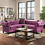80 Inches L Shaped Sectional Couch, Rolled Arm...