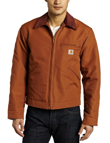 Carhartt Men's Weathered Duck Detroit Jacket J001,Brown,XX-Large