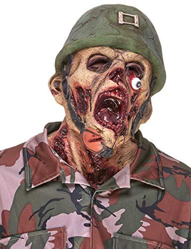 Vegaoo - Máscara látex Soldado Zombie Adulto - Única