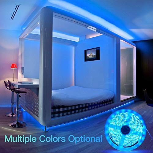LED Strip Lights 16.4ft x 2 Rolls 5050 RGB Color Changing Lights Waterproof Flexible Tape 300 LEDs Light 32.8ft Strips Kit with IR Remote Controller Power Kit for Home Bedroom Kitchen DIY Decoration 9