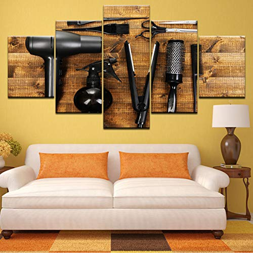 ZXCVWY muurkunst poster 5 stuks blazer rail HD druk canvas schilderij decoratie woonkamer
