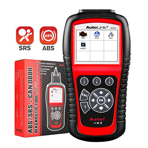 Autel Autolink AL619 OBD2 Scanner ABS SRS Airbag Warning Light Scan Tool, Turn Off Check Engine Light Car Diagnostic Tool, Quick Test Engine System Code Reader
