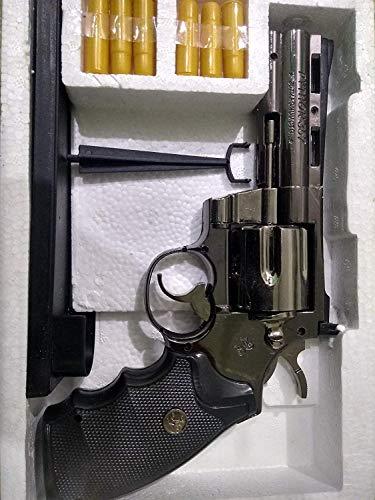Motoway Steel 357 Python Windproof Red Flame Gun Lighter (Silver)