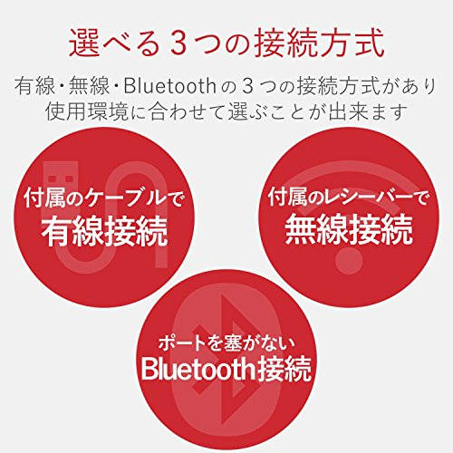 『エレコム マウス 有線/ワイヤレス/Bluetooth トラックボール親指 8ボタン チルト機能 ブラック M-XPT1MRXBK』の3枚目の画像