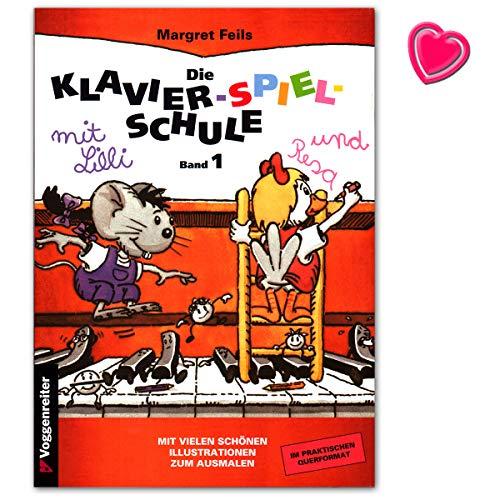 Die Klavier-Spiel-Schule Band 1 - moderne kindgerechte Klavierschule mit vielen Illustrationen und bunter herzförmiger Notenklammer - Voggenreiter 9783802402180