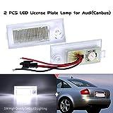 NSLUMO Lámpara de matrícula con número LED Super White compatible con A`UDI A6 C5/4B Sedan 97-04 6000K 2x