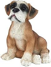 (Boxer) - Design Toscano Boxer Puppy Dog Statue, Multicoloured