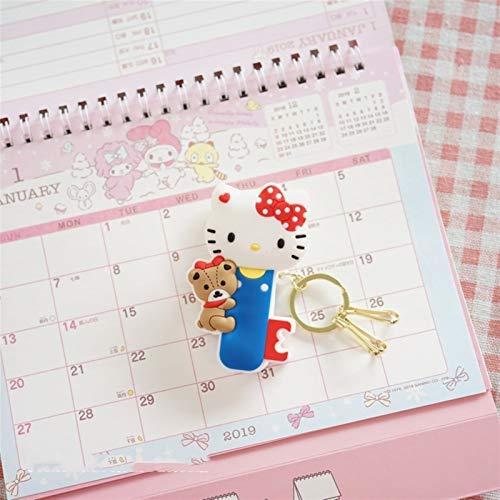 XINGYAO Llavero 1pc Lindo mi melodía Estrellas Forma a la acción del Perro Figura muñecas pudín Llavero pequeñas Estrellas gemelas Clips Keyring Decoración Home (Color : Hello Kitty)