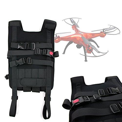 DURAGADGET Mochila/Arnés Ajustable para tranporte de Dron s-idee 01502 S181C HD/Simtoo Follow Me/UDI U28-1 / Walkera AiBao/XK X251 / Zoopa ZQ0155 roonin Quadro