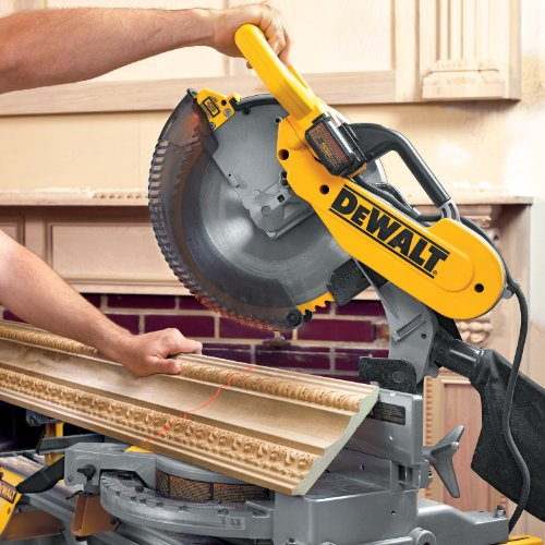 DEWALT 12-Inch Compound Miter Saw Double-Bevel, 15-Amp (DW716)