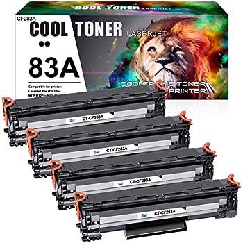 Cool Toner Compatible Toner Cartridge Replacement for HP 83A CF283A 83X CF283X for HP Laserjet Pro MFP M127fw M125nw M201dw M225dw M125a M127fn Printer  Black 4-Pack