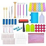 Jcevium - Set di 60 strumenti per pittura con diamanti e accessori per pittura a mosaico per adulti o bambini