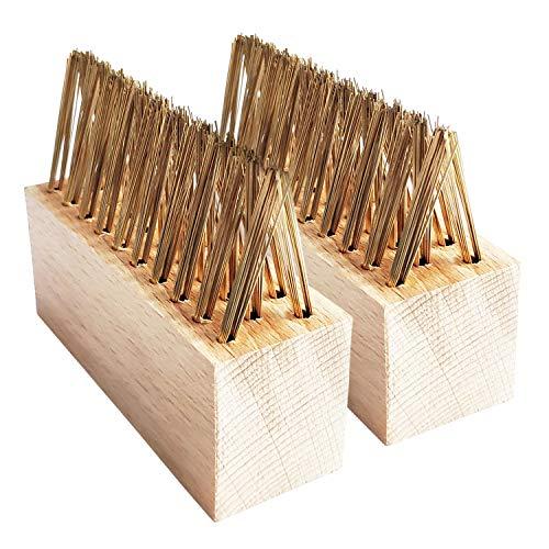 2 spazzole di ricambio per fughe, per erbacce, con setole in ottone, spazzole di ricambio per fughe, per giardino e terrazza