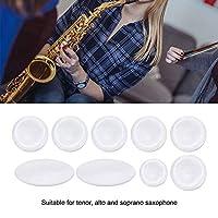 キーボタンインレイ セット 全9Pcs 硬い素材 アルト/テナー/ソプラノサックス ボタン インレイ フェードなし 使いやすい サクソフォンアクセサリー 金管楽器 装飾用
