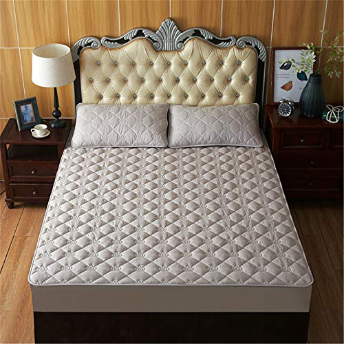 DZYP Mattress Protection Cover, All-inclusive Bed Cover, Dustproof, Anti-bacterial, Anti-skid and Anti-mite, Suitable for Various Bed Types. (Light gray,180x200+30cm)