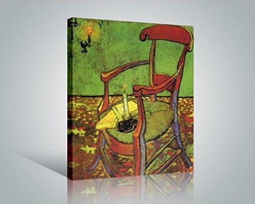1art1 Vincent Van Gogh - Der Stuhl Gauguins In Arles Mit Büchern Und Kerze, 1888 Bilder Leinwand-Bild Auf Keilrahmen | XXL-Wandbild Poster Kunstdruck Als Leinwandbild 50 x 40 cm
