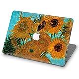 ZVStore Funda para MacBook Van Gogh Diseño de arte Funda protectora Funda rígida de plástico para Pro MacBook (Air 13 (A1369 y A1466), Girasoles)
