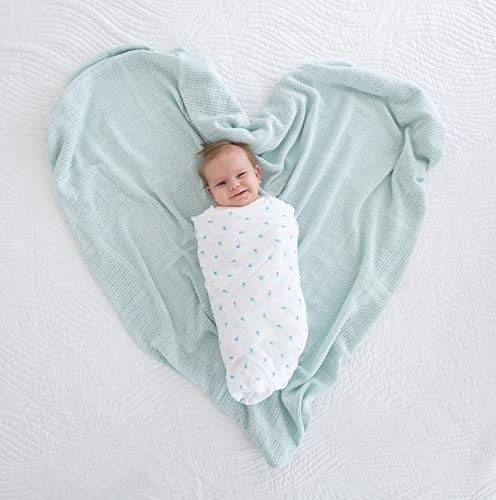 Amazing Baby Cellular Blanket, Premium Cotton, Soft Blue