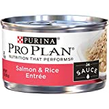 Purina Pro Plan Wet Cat Food, Salmon & Rice Entree in Sauce - (24) 3 oz. Pull-Top Cans
