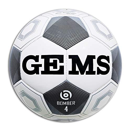 GEMS Pallone Calcio Bomber Bianco 5