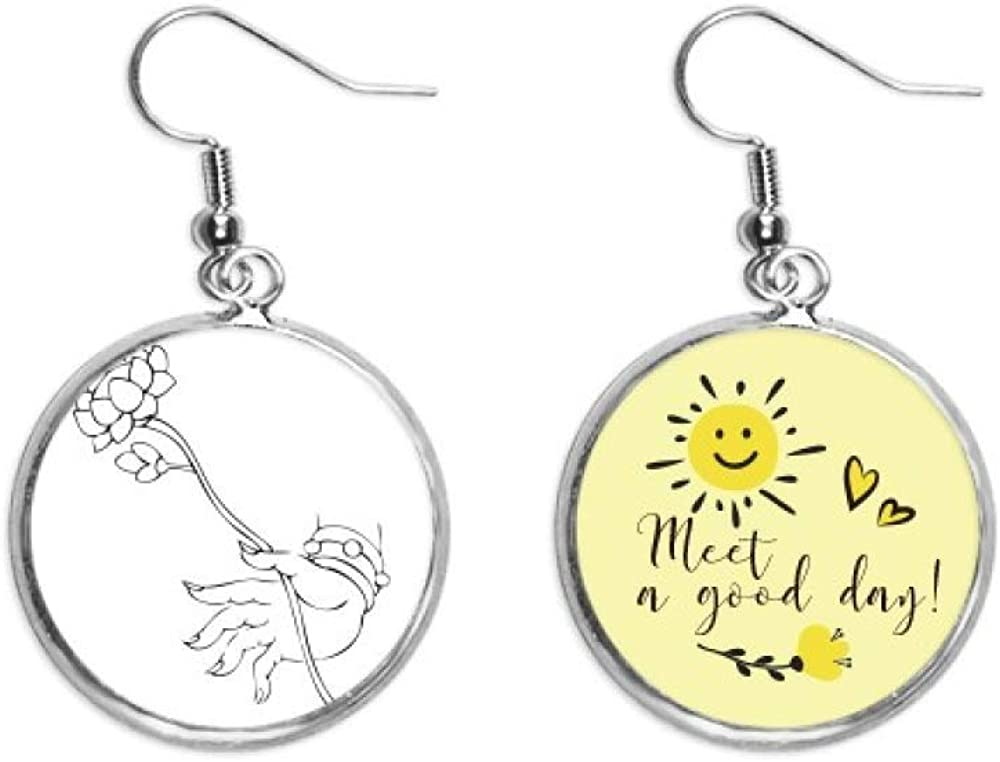 Culture Lotus Hand Direct sale of manufacturer Year-end annual account Simple Illustration Ear Drop Flow Sun Pattern