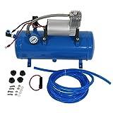 Pompe portative de compresseur d'air 150 PSI, CC 12V de gonfleur avec un plus grand débit d'air, lumière de LED, protection sur-gonflée