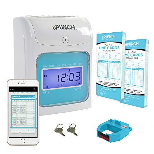 uPunch Time Clock with Free Punch to Pay Mobile App to Scan & Manage Timecards for Payroll (FN1000)