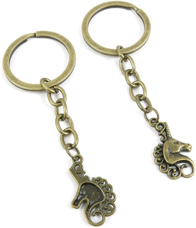240 Pieces Fashion Jewelry Keyring Keychain Door Car Key Tag Ring Chain Supplier Supply Wholesale Bulk Lots Q5UL3 Horse Unicorn