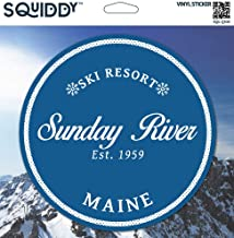 Squiddy Sunday River Maine - Vinyl Sticker Decal for Phone, Laptop, Water Bottle (2.5