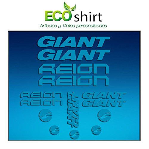 Ecoshirt K3-HTVN-N1EC Pegatinas Cuadro Frame Giant Reign Am30 Stickers Aufkleber Decals Adesivi Bike BTT MTB Cycle, Azul