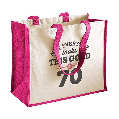 70th Birthday Keepsake Gift Bag for Women Novelty Shopping Tote