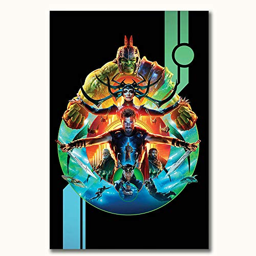 FOCLKEDS The Avengers Thor Ragnarok Hulk 3D-Ölgemälde, 40,6 x 61 cm, Dekor-Kunst, schick, Büro-Kunst, ungerahmt