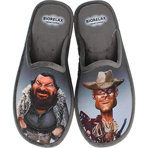 Zapatillas Biorelax - Bud Spencer y Terence Hill - Gris, 41
