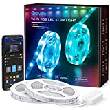Govee 32.8ft LED Strip Lights Work with Alexa and Google Assistant Wireless Smart Phone APP Control Light Strip (2x5m) Music Sync RGB Tape LED Lights for Room Kitchen Home Party (Not Support 5G WiFi)
