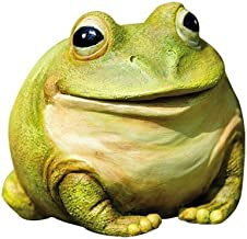Evergreen Garden Medium Portly Frog Painted Polystone Outdoor Statue and Key Holder - 6・hW x 5・hD x 6・hH