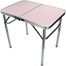 LPFMM Bed with Table Outdoor Camping Table Home Lazy Computer Table Folding Table Computer Folding Table (Color : Pink)