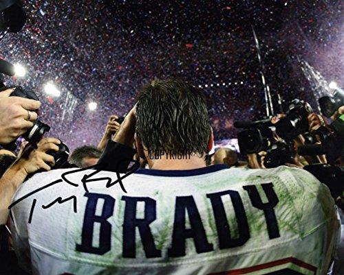 Fotodruck von Tom Brady, mit vorgedrucktem Autogramm, limitierte Edition