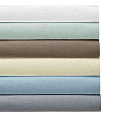 Heavyweight Flannel 100% Cotton Sheet Set- King, Grey, 4PC bed sheets 170 GSM