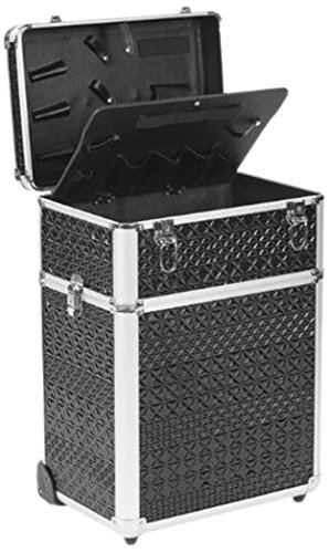 Efalock Friseur Kosmetik Aluminium-Koffer Coiffeur, schwarz, 1er Pack