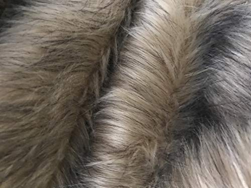 Ready to Ship! Luxury Faux Fur Fabric Piece for Crafting/Photo Prop Backdrop/Basket Filler/Fursuit (Golden Brown, 30x36 inches)