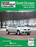 E.T.A.I - Revue Technique Automobile B726.5 - RENAULT CLIO CAMPUS II PHASE 1 - 2006 à 2009