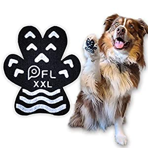 Anti Slip Paw Grips Pads,Provide Dog Foot Traction & Paw Protection on Hardwood Floor,for Senior Dog with Mobility Issue (10Sets 40PCS, XXL- 3″ x2 1/2″ (61-80 lbs))