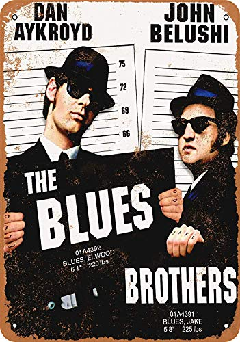 Blechschild, Motiv: Blues Brothers Film, Vintage, 20,3 x 30,5 cm