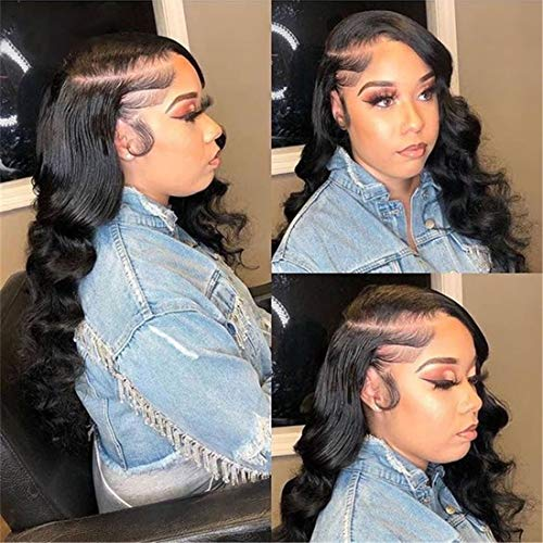 Loose Deep Wave Lace Front Wigs Human Hair with Baby Hair Brazilian Virgin Hair Human Hair Wigs for Black Women HD Transparent Lace Pre Plucked Natural Hairline 180% Density