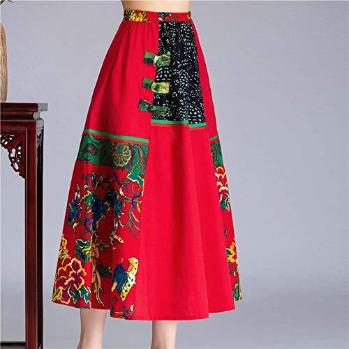 YYH Damesrok Kleurrijke Vrouwen Indische hippie Gypsy Sequin Zomer Sundress Maxi-buikdans-Vintage Rok A-linie J