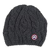 (カナダグース)CANADA GOOSE レディース ニットキャップ 6194L CHUNKY CABLE KNIT BEANIE ロゴワッペン ニット帽 ブラック [並行輸入品]