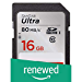 SanDisk 16GB Class 10 SDHC UHS-I Up to 80MB/s Memory Card (SDSDUNC-016G-GN6IN) (Renewed)