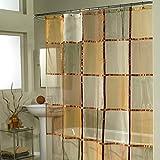 Ex-cell Home Fashions Mosaik Stoff Vorhang für die Dusche, Terracotta
